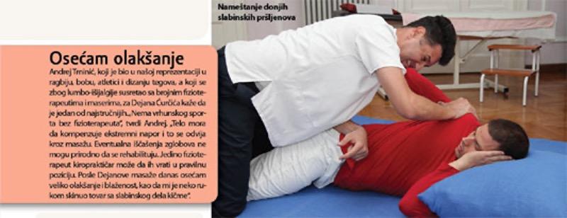 Hiropraktika Dejan sa pacijentom